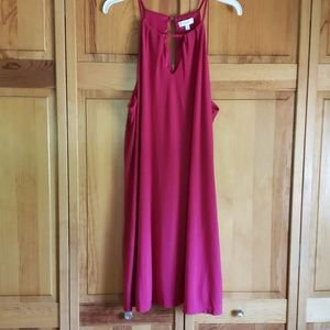 Red summer party dress